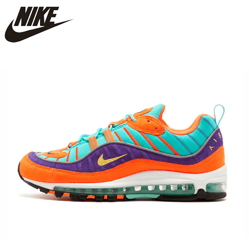 new styles c576d eb34e Original Authentic Nike Air Max 98 QS CONE Men's Running Shoes Sport  Outdoor Breathable Sneakers 2018