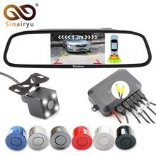 Sinairyu 3in1 автомобиля видео Обратный Парковка Сенсор помощи подключения заднего вида Камера может Дисплей расстояние на 4.3 дюймов автомобиля Мониторы