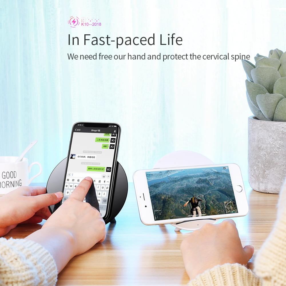 Joyroom 10 W Qi chargeur sans fil pour iPhone X 8 Plus rapide USB sans fil chargeur pour Samsung Galaxy S8 Plus Note 8 S6 S7 Edge + - 2