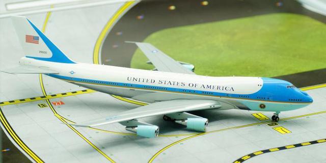 Inflight200 1: 200 Estados Unidos Boeing 747-200 aviones de aleación modelo de modelo de avión presidencial Air Force One Favoritos modelo