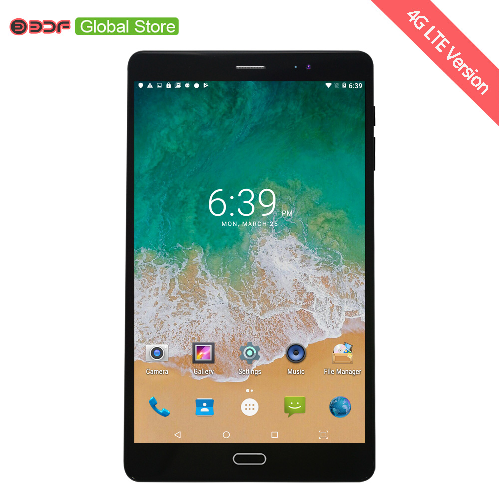8 Inch Android 6.0 3G 4G LTE Sim Card Mobile Cell Phone Call Tablet Pc 4 CPU 4GB+32GB 5MP+12MP Camera 1920*1200 IPS LCD Display