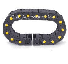 1 meter 25*38 Towline Enhanced Full-Closed Drag Chain with End Connectors for CNC Router Machine Tools