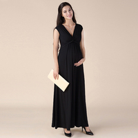 Brand Lycra Sleeveless Maternity Maxi Dresses Long Dresses for Pregnant Women Summer Pregnancy Clothes V-neck Lady Vestidos HOT