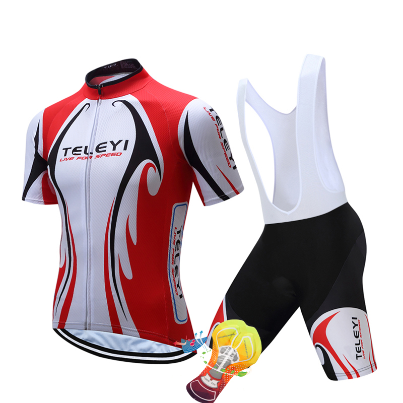2018 TELEYI Cycling jersey gel Pad bike shorts set SOBYCLE Ropa Ciclismo mens summer quick-dry PRO BICYCLING Maillot Culotte
