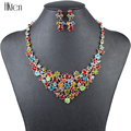 MS1504132 Fashion Jewlry Sets Gold plated 2 Colors High Quality Party Jewelry Crystal Unique S Design New Bridal Jewelry