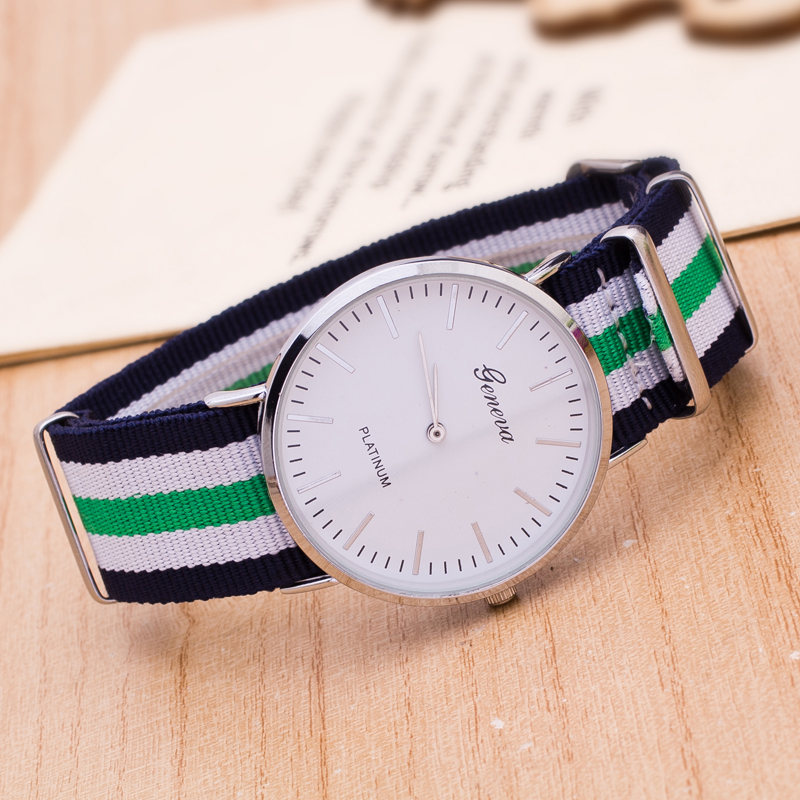 British Trend Simple Canvas Nylon Band Watches Retro Ultra-thin Korean Students Watch Men And Women Lovers WristWatch Bayan Saat
