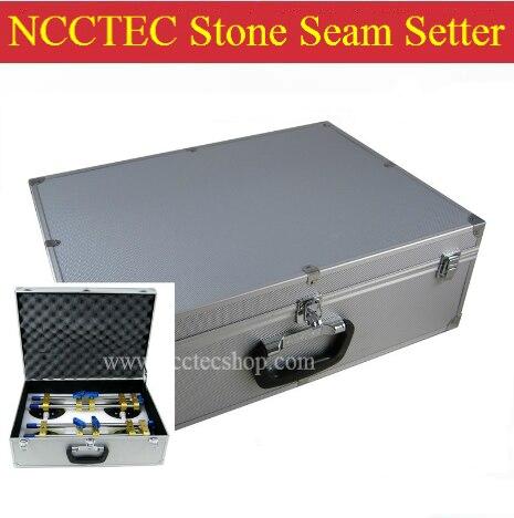 2 pz di 6 ''pietra regolabile cucitura setter con Alluminio Custodia per il trasporto | 150mm pietra splicer, cucitura joiner e torna splash supporto