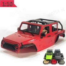 В разобранном виде 12,3 дюймов 313 мм Колесная база кузова автомобиля в виде ракушки для 1/10 RC 5 двери Кабриолет для джипа Wrangler осевой SCX10 & SCX10 II 90046