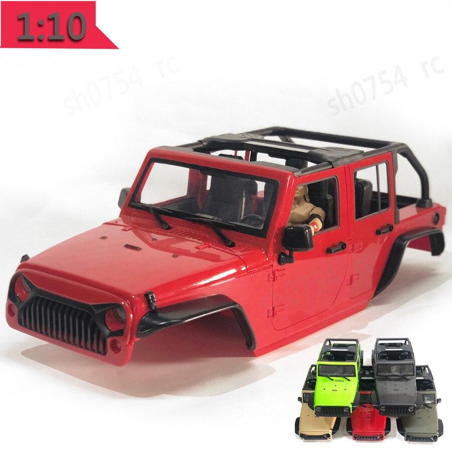 Coque de voiture de carrosserie à empattement 12.3 pouces 313mm non assemblée pour 1/10 RC 5 portes convertible de Jeep Wrangler Axial SCX10 & SCX10 II 90046