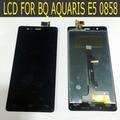 Para BQ Aquaris E5 HD 0858 Negro LCD Full Screen Display + Touch Screen Panel de Cristal Digitalizador Reemplazo Asamblea