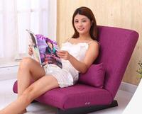 Folding Floor Single Seat Sofa Bed Modern Fabric Japanese Living Room Furniture Armless Lounge Recliner Occasional Accent Chair