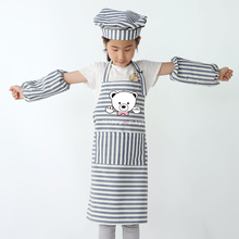 Childrens fashion striped parent-child apron kitchen chores cleaning art gallery painting sleeveless