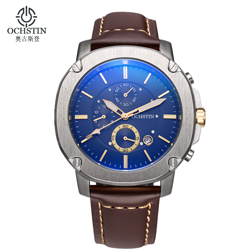 Casual Sport Watch Business Men Watch Chronograph Quartz Wristwatch Brand Luxury Watch Men Military Watches for Men Reloj Hombre цена