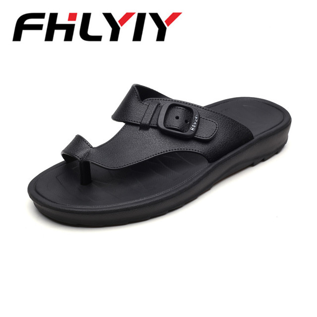 ccc69ff47 Summer Men Designer Flip Flops Mens Casual Sandals Fashion Slippers  Breathable Beach Shoes Slides Beach Water Shoes Zapatos