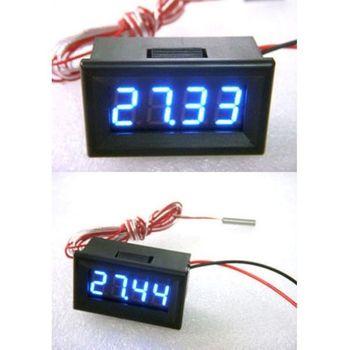 "-200℃ to 450℃ PT100 Thermometer Temperature 0.36"" LED Digital Digital display thermometer Sensor FOR dc 12V 24V car Aquarium"