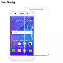 2 шт., Защитное стекло для экрана Huawei Y3 2017, ультратонкое закаленное стекло для Huawei Y3 2017, стеклянная пленка для телефона 5,5 дюйма, Youthsay