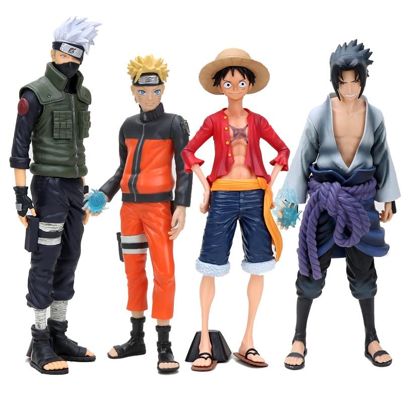 Anime naruto shippuden uzumaki kakashi sasuke luffy figura brinquedos grandista shinobi relações estatueta pvc modelo bonecas colecionáveis