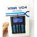 Vc4 xtar originais micro usb tela lcd digital carregador de bateria 18650 26650 10440 carregador carregador de bateria de lítio a autêntica
