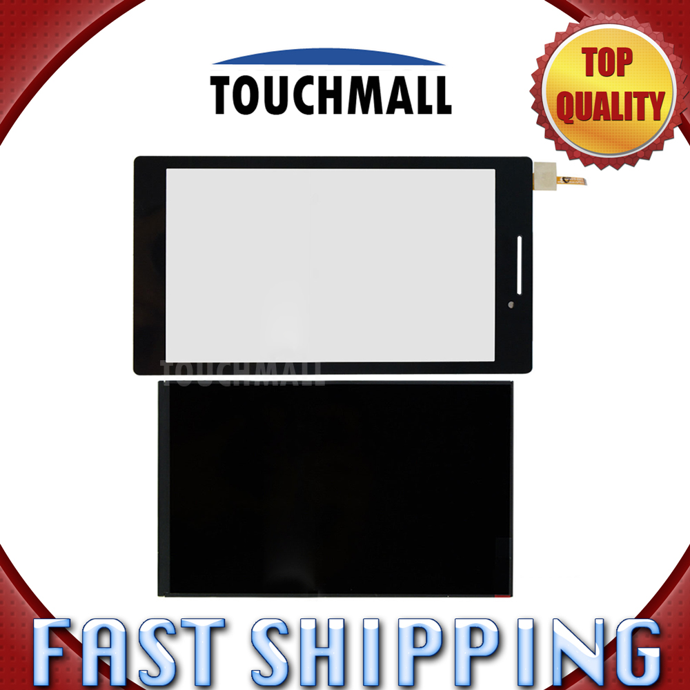 For New LCD Display + Touch Screen Replacement Lenovo Tab 2 A7-10 a7-10f A7-10F A7-20 A7-20F 7-inch Black Free Shipping lenovo tab 2 a7 20f 8gb wi fi black