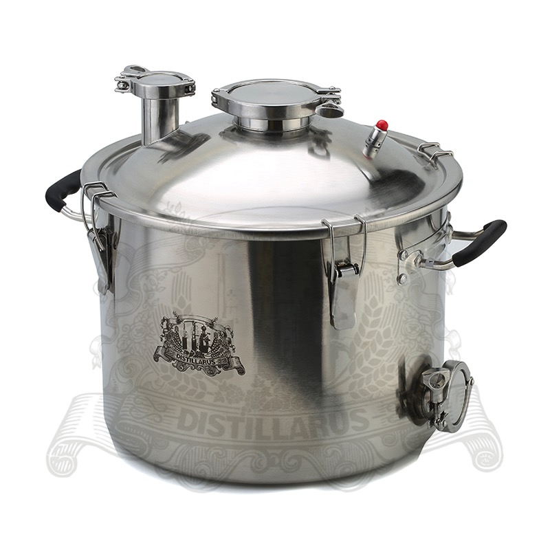 Boiler, Distillery tank , Pot  25L (5,5 Gal) stainless steel 304. Three layer bottom for induction heaterBoiler, Distillery tank , Pot  25L (5,5 Gal) stainless steel 304. Three layer bottom for induction heater