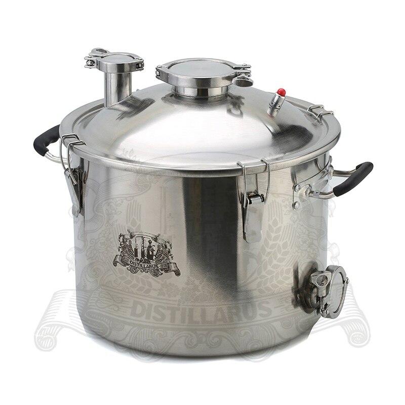 Chaudière Distillerie réservoir Pot 25L (5,5 Gal) en acier inoxydable 304. Trois couches bas pour chauffage à induction
