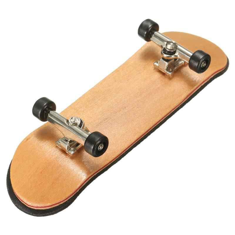 Bordo de madeira fingerboard mini dedo placas esportes skate preto rolamentos rodas crianças jogo presente 100mm x 28mm x 15mm