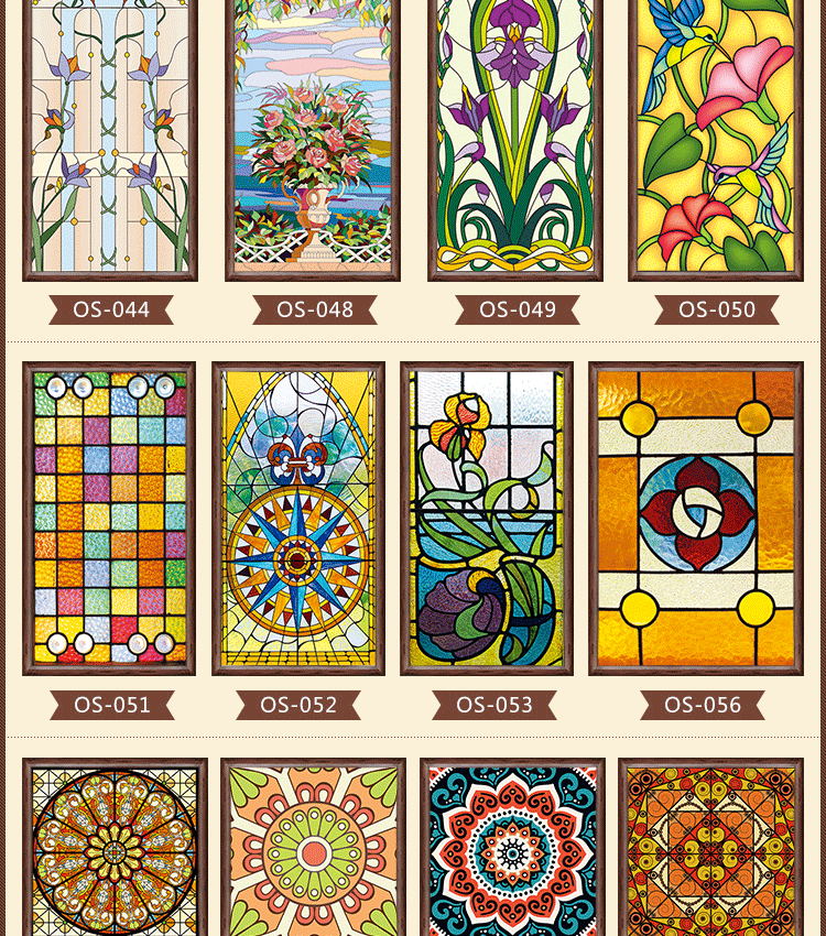 Church Stained Glass Window Foil