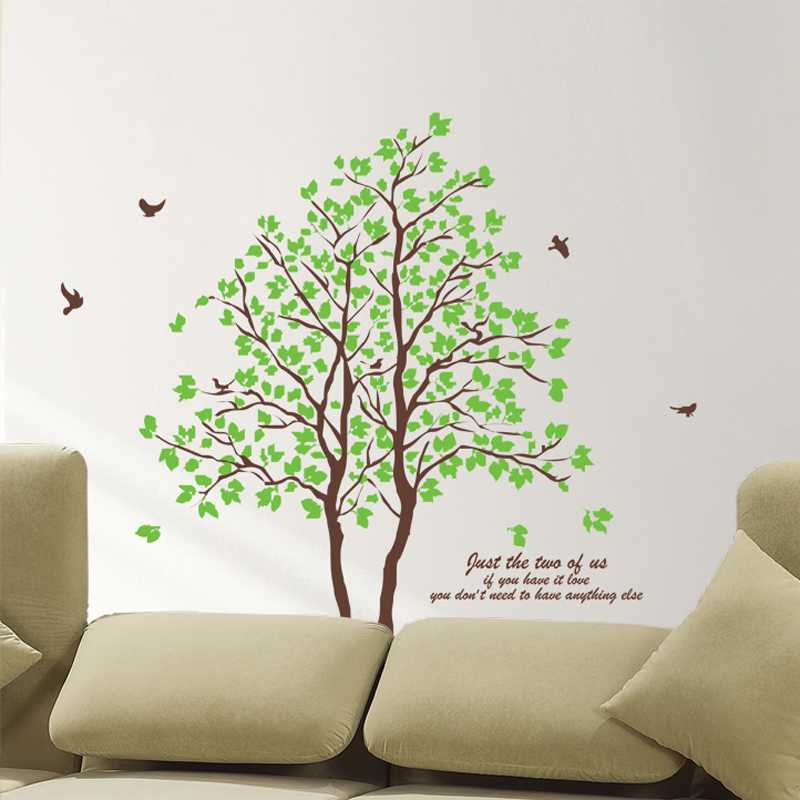 Superb Green Tree Design Two Stick Method Wall Stickers Waterproof Wall Decoration  Arts Wallpaper Home Decoration In Wall Stickers From Home U0026 Garden On ...