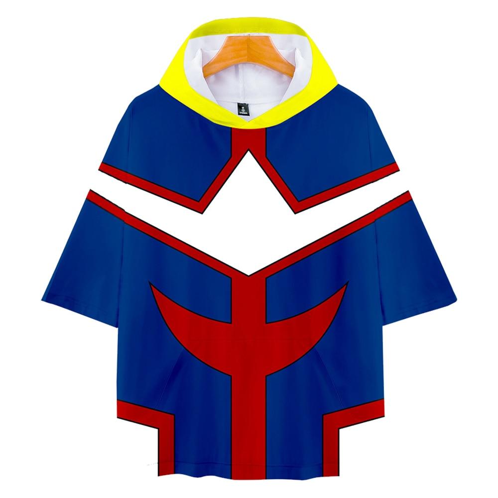 Tshirt Hoodie Spring Academia Unisex All-Might No Boku No-Hero High-Quality Summer