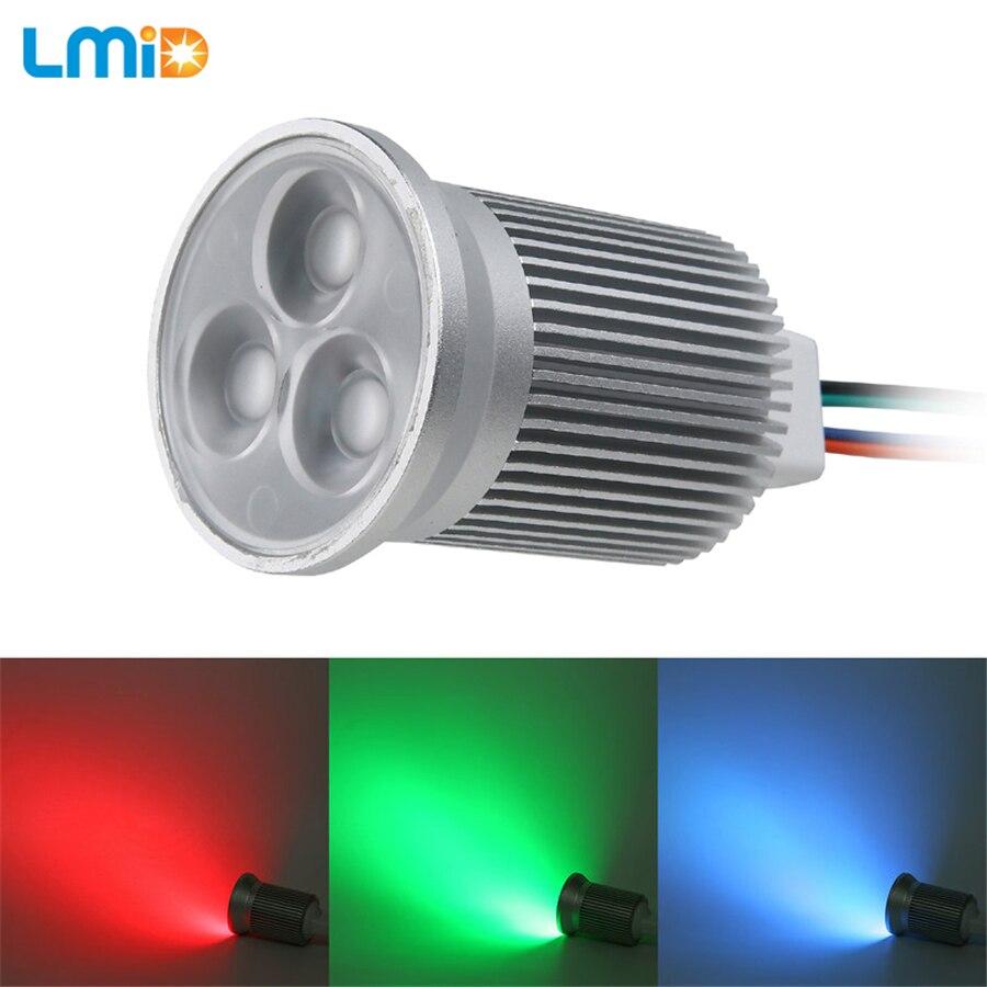 Lmid Led Downlights Downlight RGB Remote Control DC12V 6W 9W Led Lamp Downlight Cocina Aluminum Silver Downlight Led