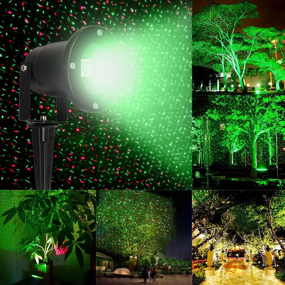 R&G 110-265V Laser Stage Light Waterproof Outdoor Tree Garden Xmas Laser Projector Star Patterns Moving Landscape Light UK Plug джинсы g star g star gs001ewdxw28