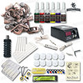 Top Quality Starter Tattoo Kit 1 Relief Tattoo Machine 6 Tattoo Inks LCD Power Supply Needles