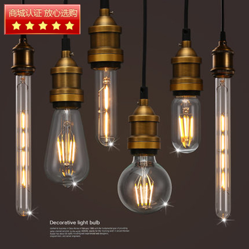 E27 LED Filament Edison Bulb Indoor LED Clear Glass Bulb T45,ST58,ST64,A19,G80,G95,G125 2W/4W/6W/8W Bombillas LED AC110-220V dimmable g125 led filament bulb light edison e27 base 110v 240v ac g125 4w 6w 8w free shipping