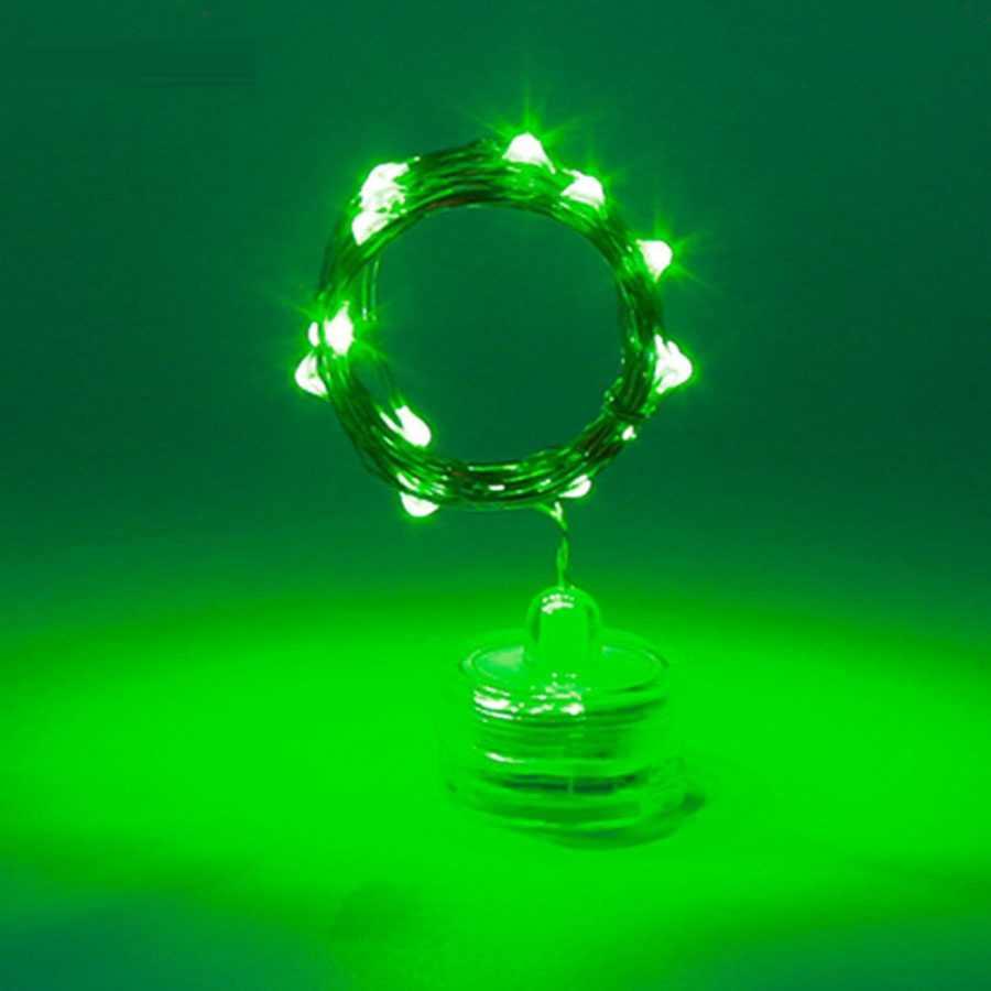 2 м 20 светодиодов свет Рождество медный провод свет шнура водонепроницаемый цветочный горшок ваза Звездная лента украшения дома сада
