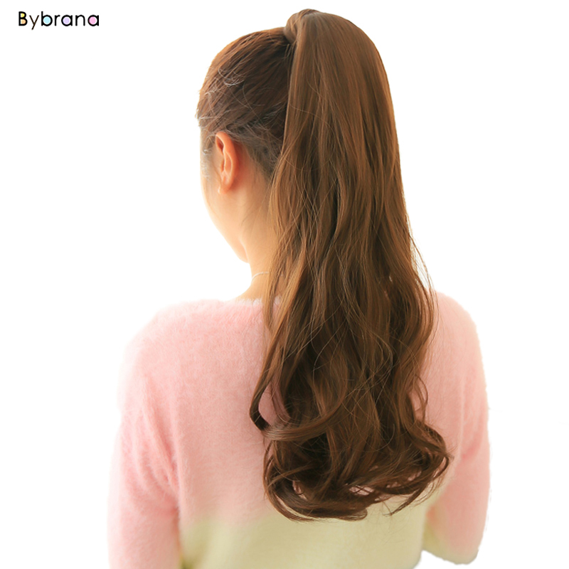 Imported From Abroad Bybrana 24'' Long Wavy Ponytail Clip In Pony Tail Wigs Hair Extensions Wrap On Fake Hair Piece Fake Hair Tail Ponytails Exquisite Craftsmanship;