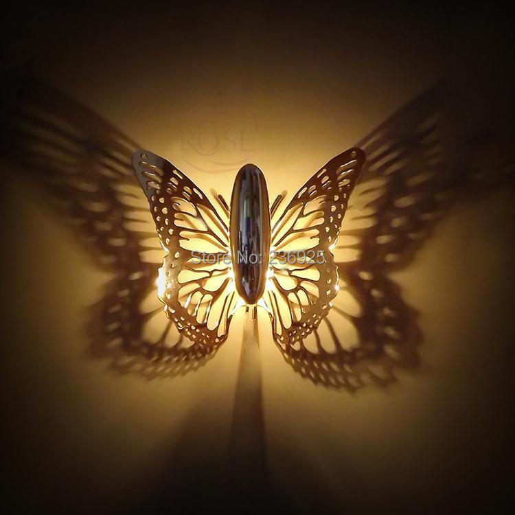 Shadow Lamps aliexpress : buy gold butterfly shadow wall lamp promotion