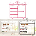 New Arrival Earrings Ear Studs Necklace Jewelry Display Rack Metal Stand Organizer Hold Convenient Jewelry Showcase 3Colors