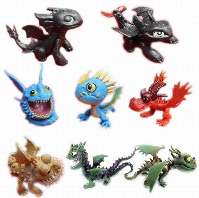 8pcs full set How to train your Dragon 2 Cartoon Night