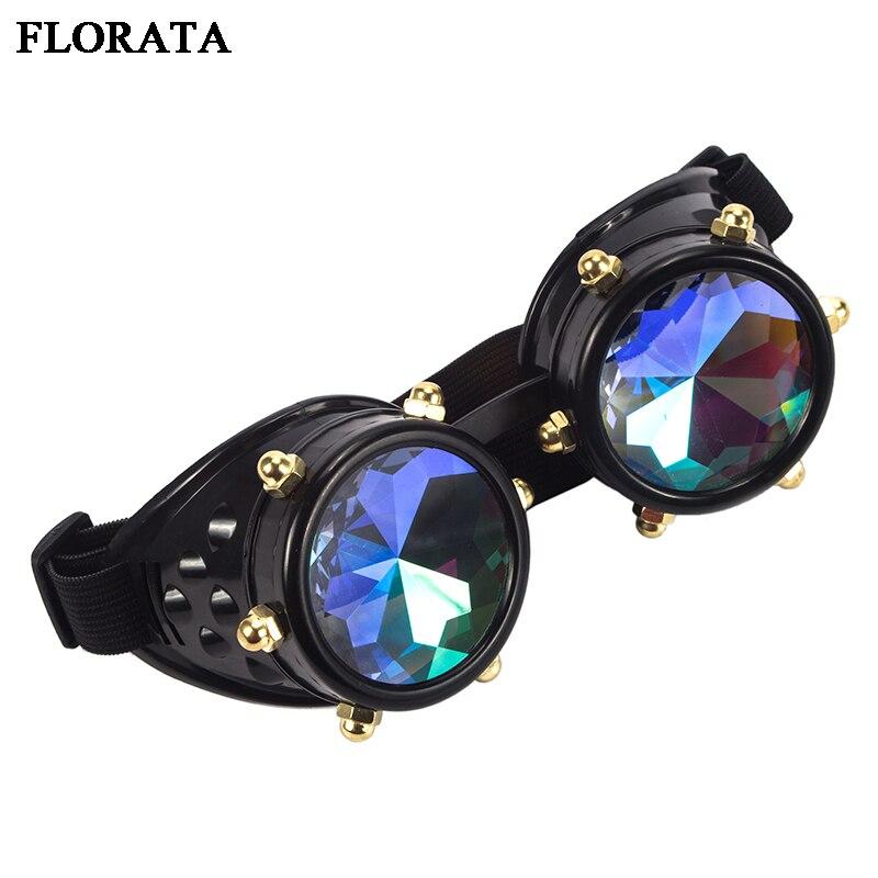 Neue Steampunk Brille Diamant Objektiv Gläser Motocross Vintage Schweißen Punk Roller Brillen Cosplay