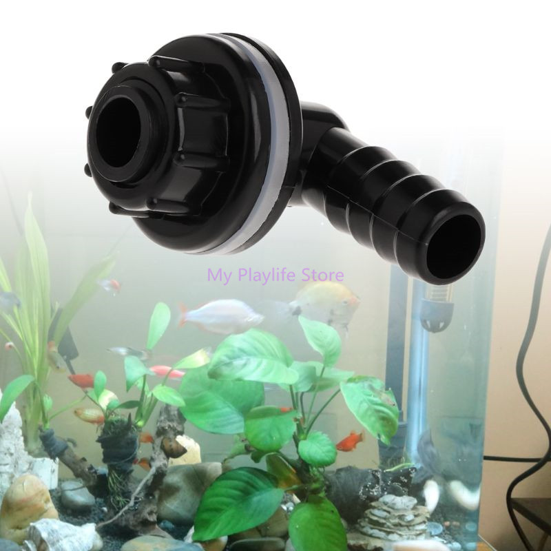 Plastic Tank Connector Waterproof Water Drainage Joints Aquarium Accessories Fish Tank Pipe Spare Parts For Fish