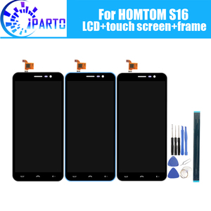 Image 1 - HOMTOM S16 LCD Display+Touch Screen +Frame Assembly 100% Original LCD Digitizer Glass Panel For HOMTOM S16+Tools