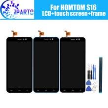 Homtom s16 display lcd + tela de toque moldura assembléia 100% original lcd digitador do painel vidro para homtom s16 ferramentas