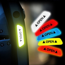 4Pcs/Set Reflective Safety Warning Stickers Nighttime Car Door Open