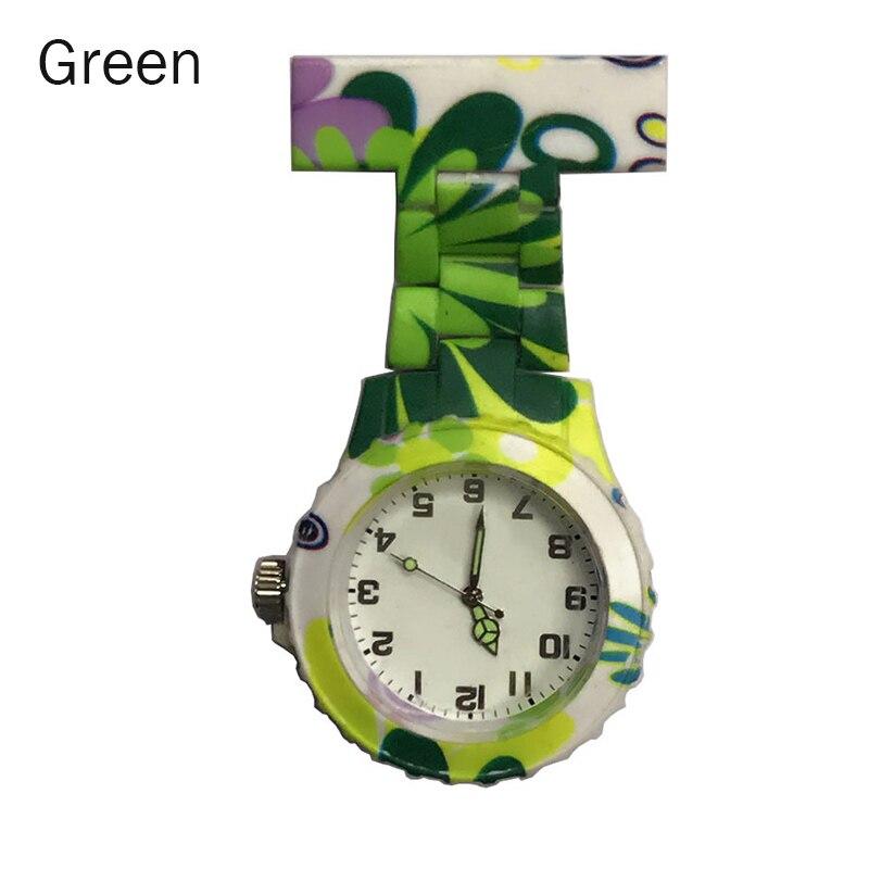 Droppshiping  Colorful Silicone Round Dial Quartz Pocket Nurse Watch Quartz Brooch Doctor Nurse Hanging Watches Dg88
