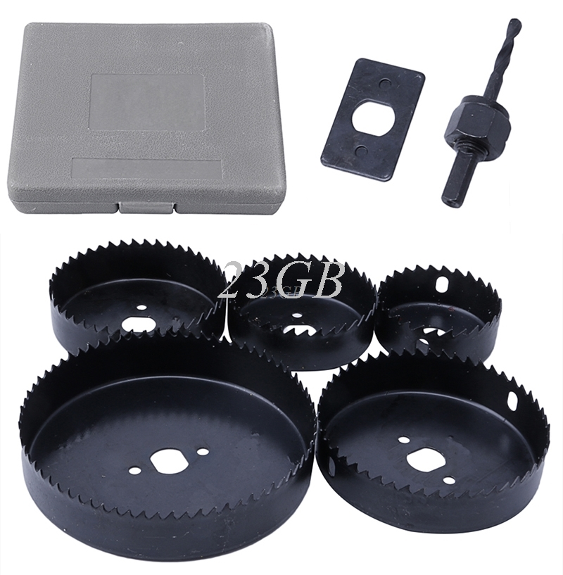 Hole Saw Cutting Set 64-127MM Cutting Kit Tool for Wood Sheet Metal Alloy 5PCS/SET JUL29_15 3pcs 75mm 2 953in bi metal hole saw power tool metal drilling wood hole saw wood tool woodworking buy 2 more favorable