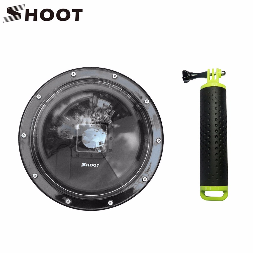 SHOOT 6 inch Underwater Diving Dome Port for GoPro Hero 4 3+ Camera with Go Pro Case Float Grip Dome for Gopro Hero 4 Accessory for gopro accessories underwater photography spherical dome port for go pro hero3 3 hero 4 gitup git2 pro sports action cameras