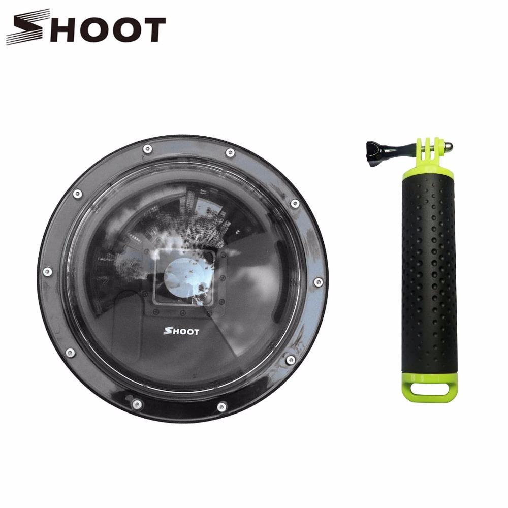 Prix pour SHOOT 6 pouce Portable Plongée Dôme Port pour Gopro 4 3 + Camera Action avec Flottant Bobber Dôme GoPro Hero 4 accessoires