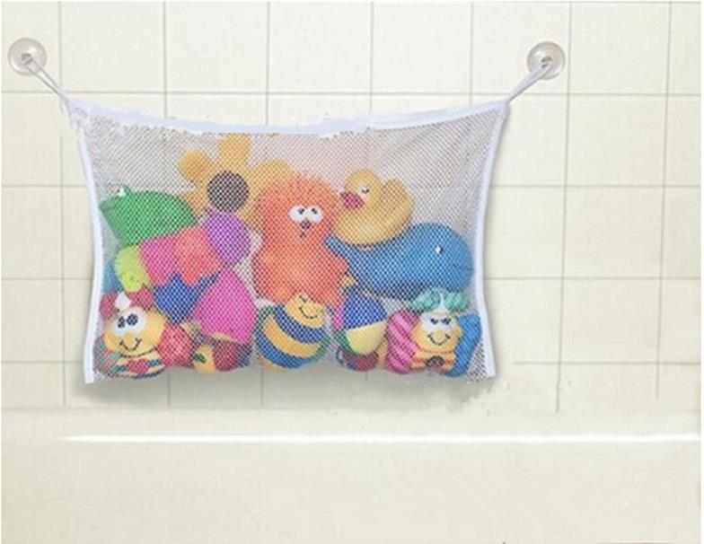 1Pc High-capacity Child Bath Toy Bag Net  Baby Bathroom Mesh Bag Suction Cup Baskets 2019 New Arrivals