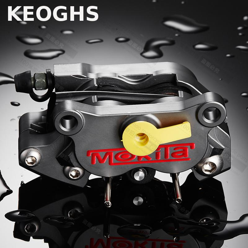 KEOGHS Motorcycle Brake Calipers 64mm Hole To Hole P4 24mm Brake Pumb For Ducati Honda Yamaha Kawasaki Modify Free Shipping keoghs motorcycle brake disc floating 220mm 70mm hole to hole for yamaha scooter honda modify