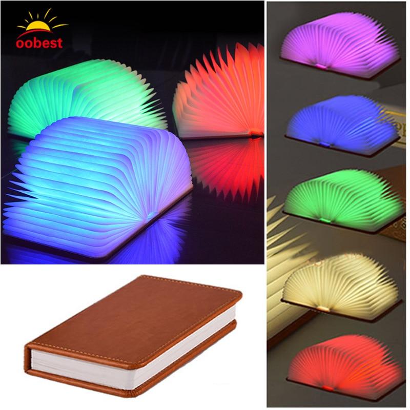 1 шт. книга Форма 3 Вт LED USB Перезаряжаемые ночник творческий лампа складной чтения led, декоративный 4 цвета свет ...